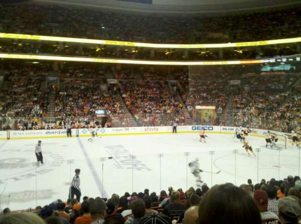 Wells Fargo Center, section: 114, row: 14, seat: 1