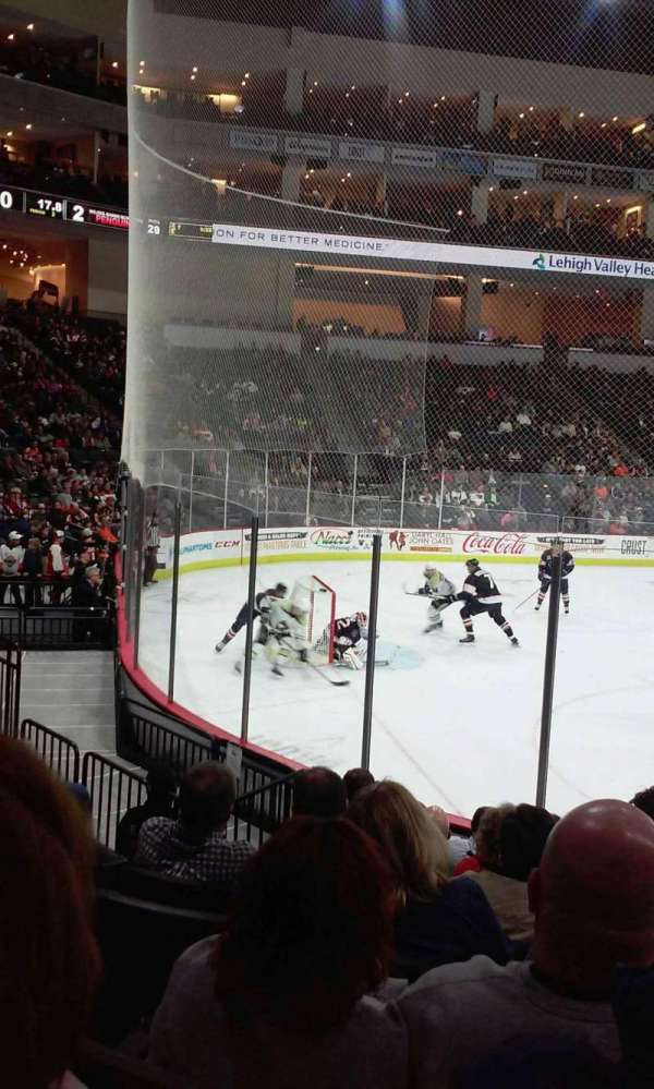 PPL Center, section: 108, row: 9, seat: 1