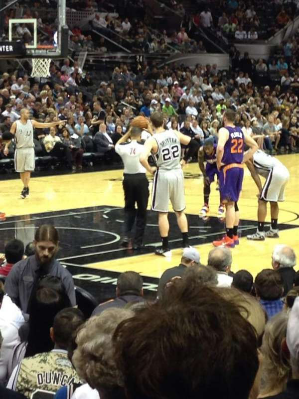 AT&T Center, section: 112, row: 13, seat: 4