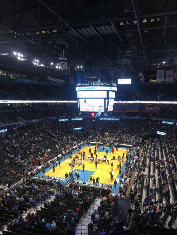 Chesapeake Energy Arena, section: 329, row: A