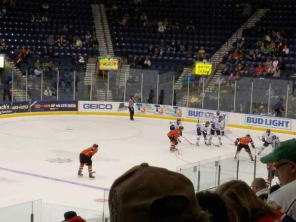 Germain Arena, section: 112, row: 14, seat: 21