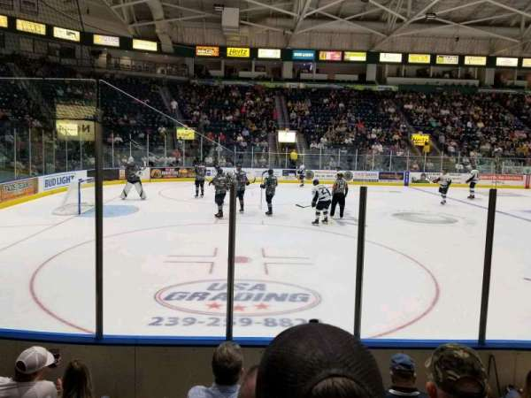 Germain Arena, section: 103, row: 5, seat: 12