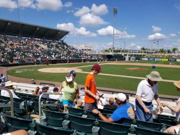 Hammond Stadium at CenturyLink Sports Complex, section: 103, row: 10, seat: 17