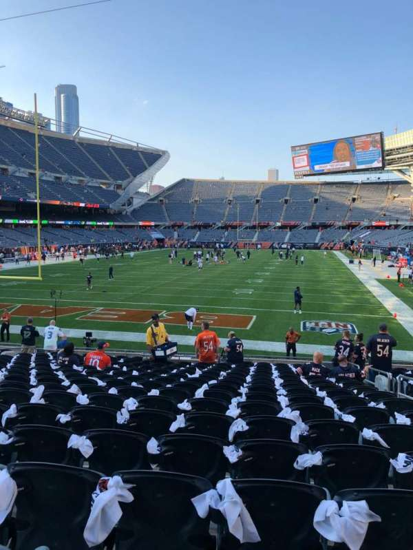 Soldier Field, section: 121, row: 17, seat: 15