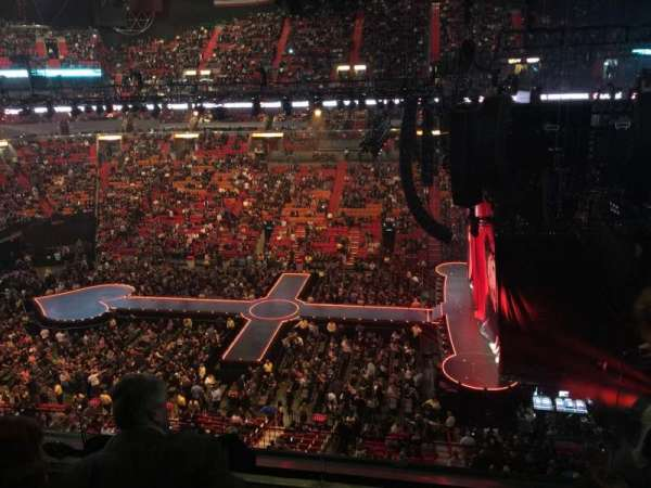 American Airlines Arena, section: 308, row: 3, seat: 2