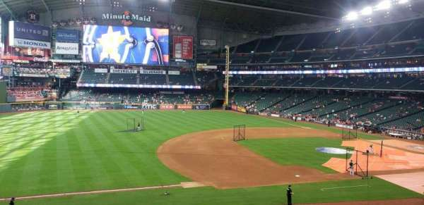Minute Maid Park, section: 210, row: 1, seat: 10