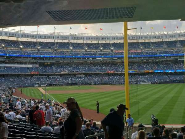 Yankee Stadium, section: 107, row: 16, seat: 18