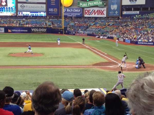 Tropicana Field, section: 111, row: AA, seat: 4