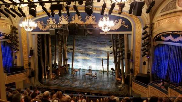 Gerald Schoenfeld Theatre, section: Mezzanine R, row: K, seat: 4