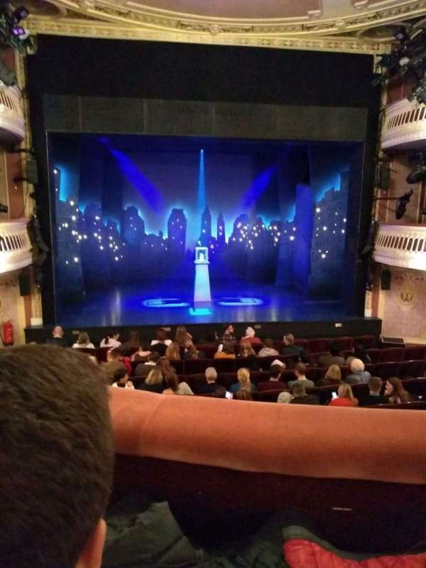 Criterion Theatre, section: dress circle, row: G, seat: 20