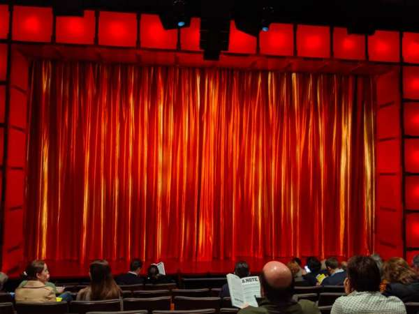The Newman Theater at the Joseph Papp Public Theatre, row: H, seat: 11