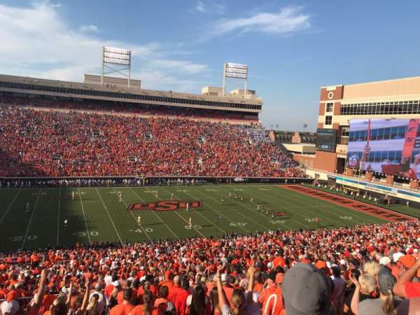 Boone Pickens Stadium, section: 307, row: 18, seat: 20