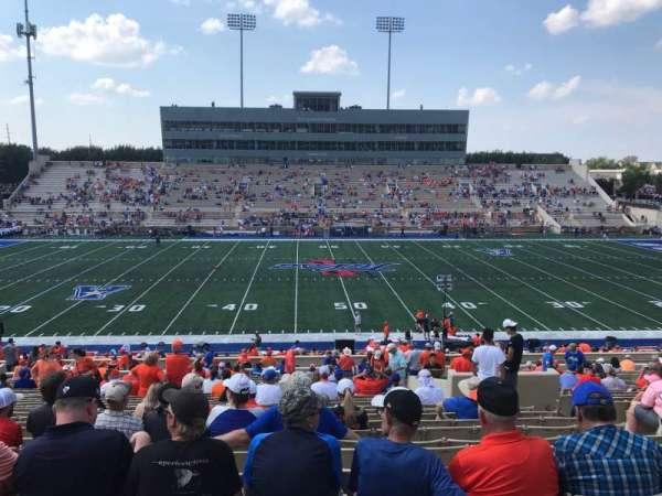 H. A. Chapman Stadium, section: 105, row: 43, seat: 8