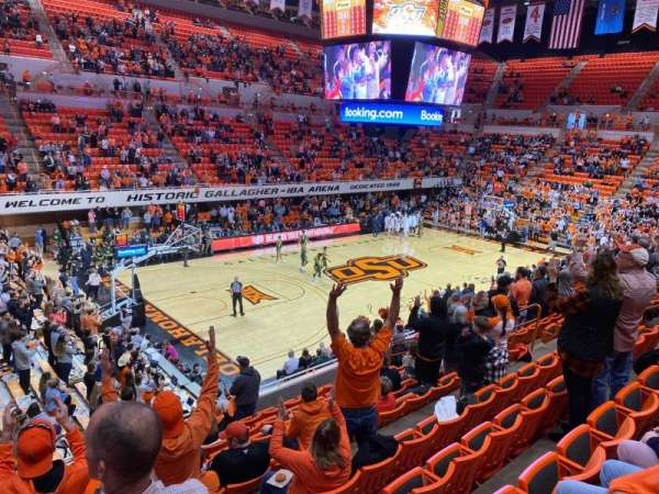 Gallagher-Iba arena, section: 205, row: 10, seat: 17
