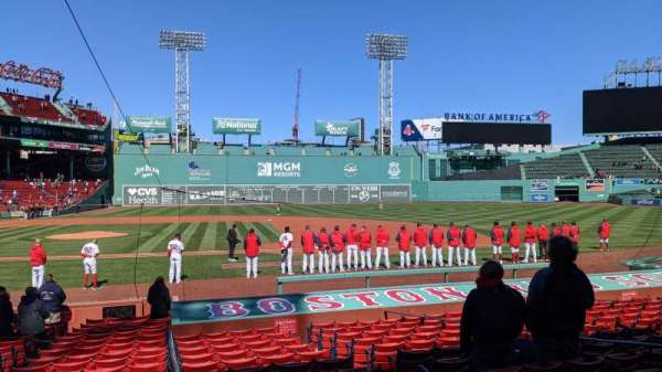 Fenway Park, section: Loge Box 115, row: BB, seat: 1