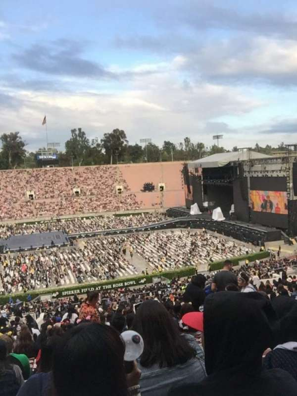 Rose Bowl, section: 18-H, row: 70, seat: 106