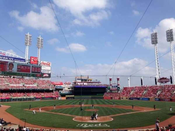 Great American Ball Park, section: 123, row: F, seat: 10