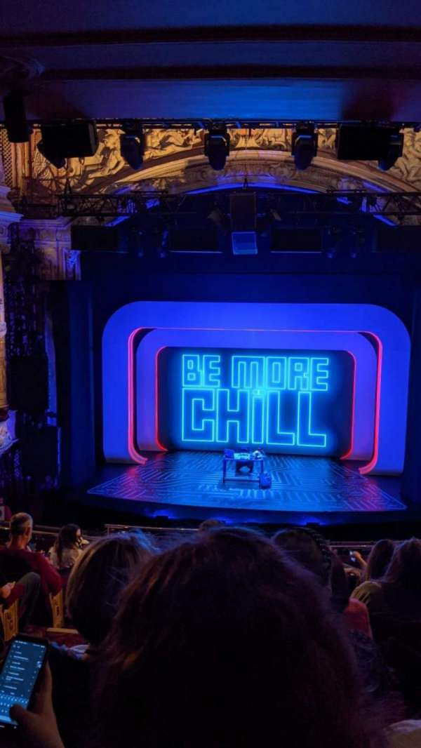 Shaftesbury Theatre, section: Royal Circle, row: H, seat: 18