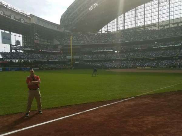 Miller Park, section: 128, row: 1, seat: 4