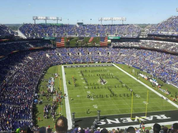 M&T Bank Stadium, section: 515, row: 20, seat: 16