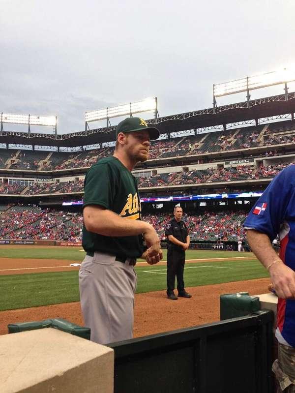 Globe Life Park in Arlington, section: Commissioner's Box 3rd Base, row: 1, seat: 28