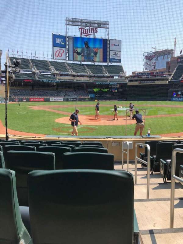 Target Field, section: H, row: 7, seat: 1