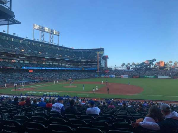Oracle Park, section: 106, row: 32, seat: 11