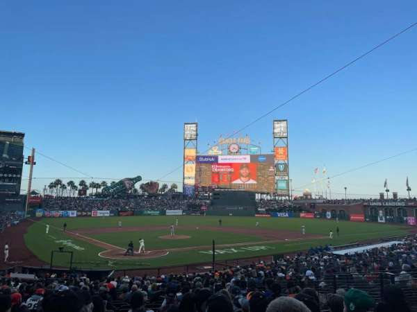 Oracle Park, section: PLB113, row: 28, seat: 11
