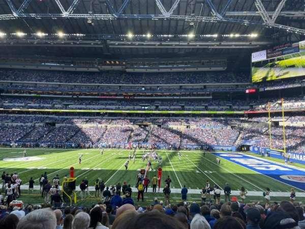 Lucas Oil Stadium, section: 110, row: 18, seat: 21