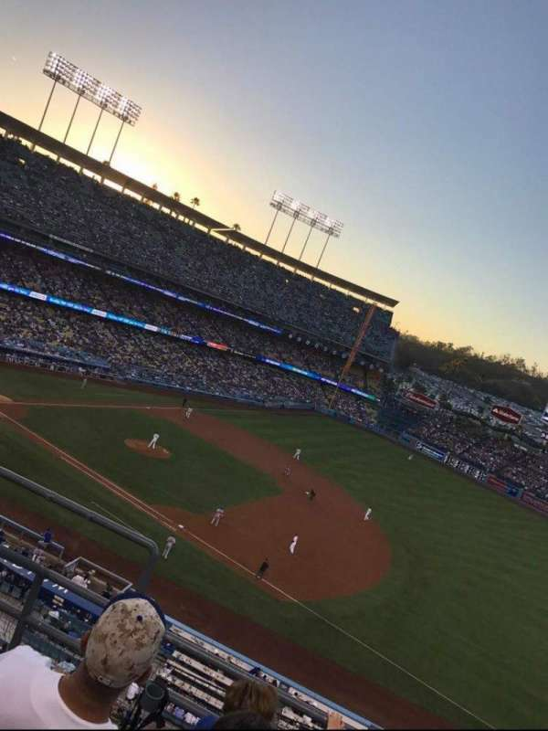 Dodger Stadium, section: 28RS, row: D, seat: 1 2 3