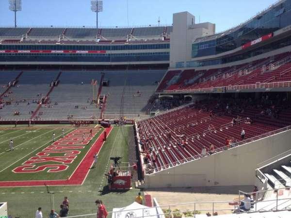 Razorback Stadium, section: 101, row: 22, seat: 20