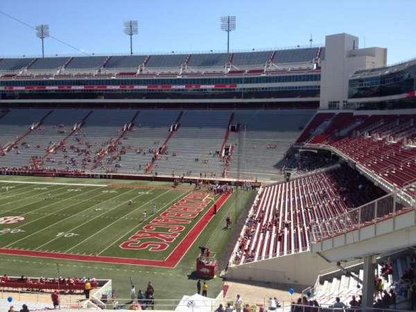 Razorback Stadium, section: 101, row: 44, seat: 20