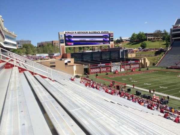 Razorback Stadium, section: 102, row: 44, seat: 20