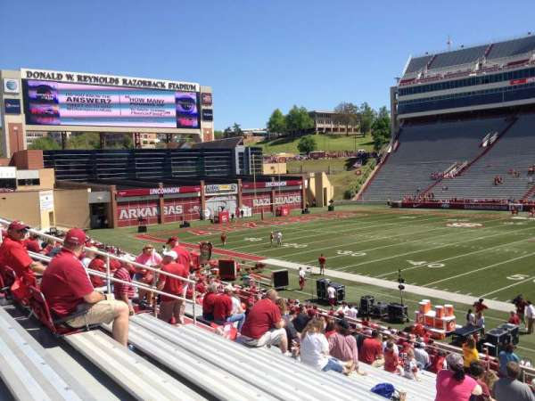 Razorback Stadium, section: 103, row: 22, seat: 20