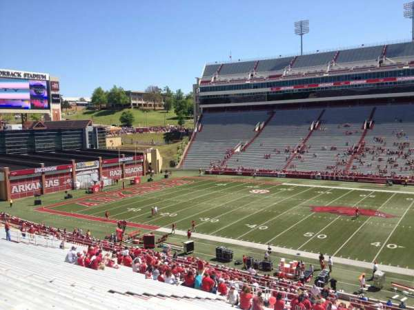 Razorback Stadium, section: 103, row: 44, seat: 20