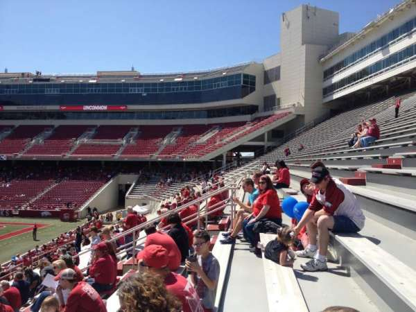 Razorback Stadium, section: 104, row: 22, seat: 20