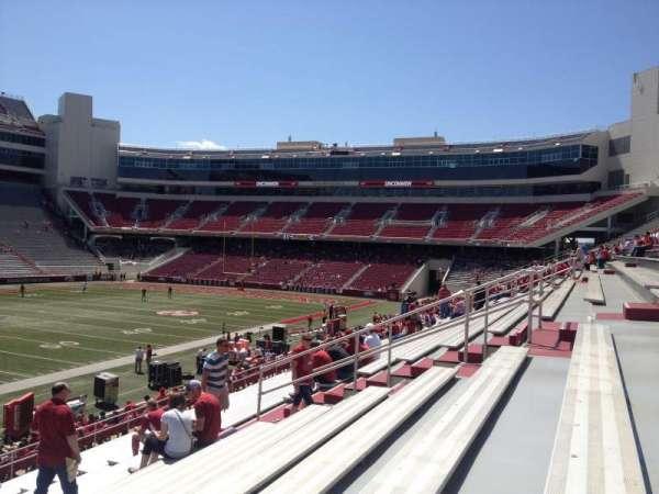 Razorback Stadium, section: 106, row: 22, seat: 20