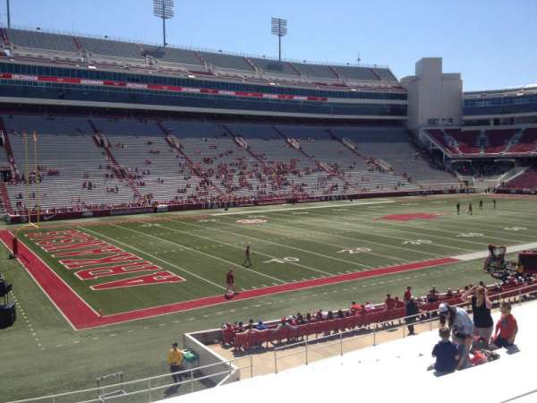 Razorback Stadium, section: 107, row: 22, seat: 20