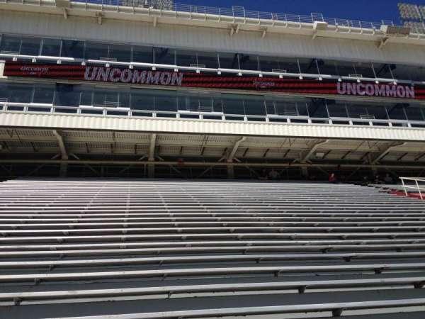 Razorback Stadium, section: 102, row: 22, seat: 20