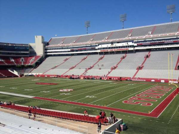 Razorback Stadium, section: 111, row: 22, seat: 20