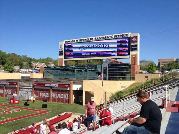 Razorback Stadium, section: 113, row: 22, seat: 20