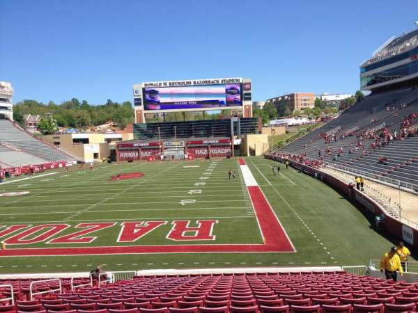 Razorback Stadium, section: 121, row: 22, seat: 10