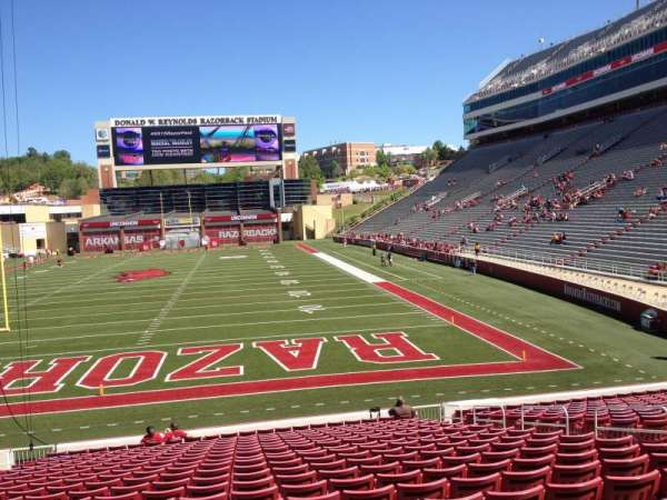 Razorback Stadium, section: 122, row: 22, seat: 10