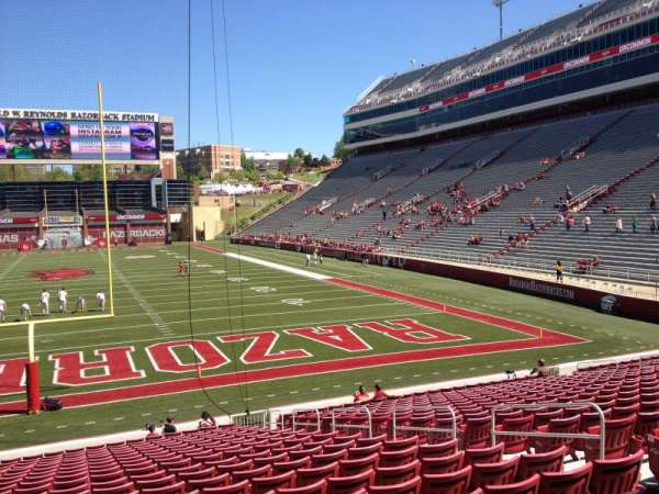 Razorback Stadium, section: 123, row: 22, seat: 10