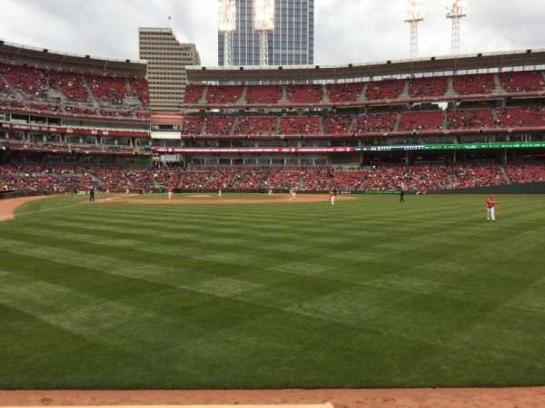 Great American Ball Park, section: 140, row: A, seat: 1