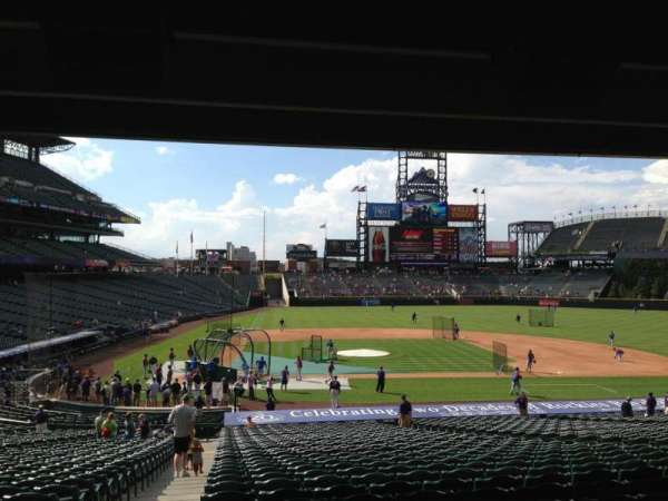 Coors Field, section: 125, row: 38, seat: 12