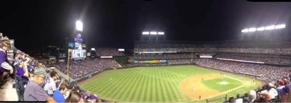 Coors Field, section: U343, row: 6, seat: 4