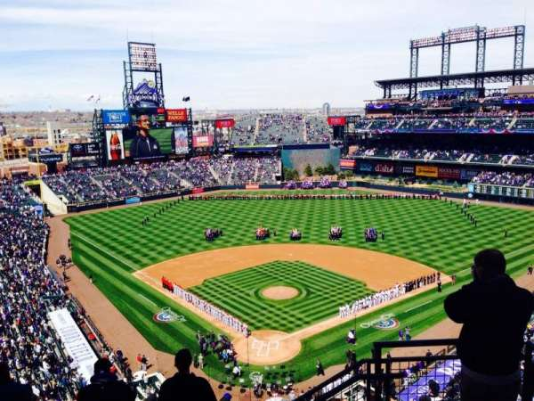 Coors Field, section: U330, row: 12, seat: 2
