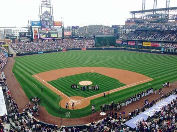 Coors field, section: L329, row: 1, seat: 7