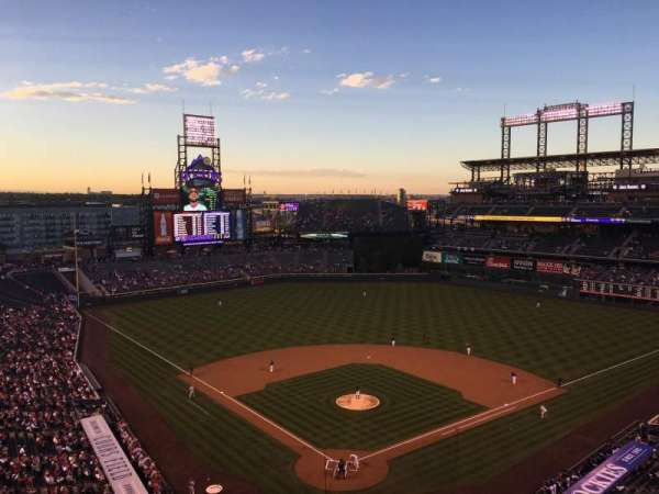 Coors Field, section: U330, row: 10, seat: 5